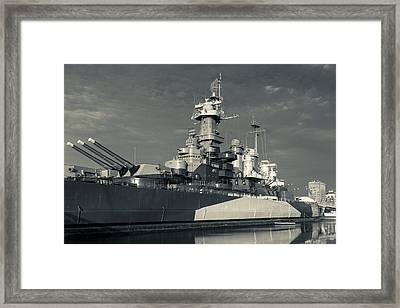 North Carolina, Wilmington, Battleship Framed Print