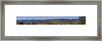 North Cascades Game Range Panorama Framed Print by Omaste Witkowski