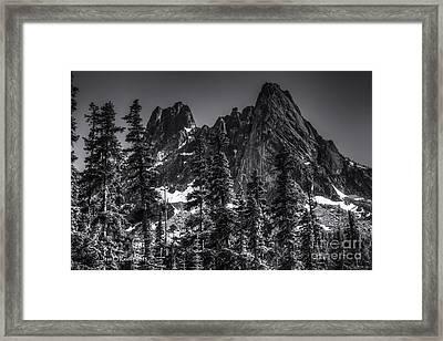 North Cascades Highway Liberty Bell Framed Print by Jean OKeeffe Macro Abundance Art