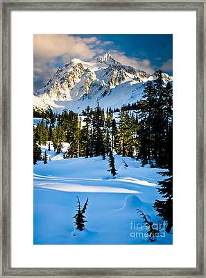 North Cascades Winter Framed Print by Inge Johnsson