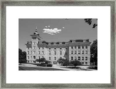 North Central College Old Main Framed Print by University Icons