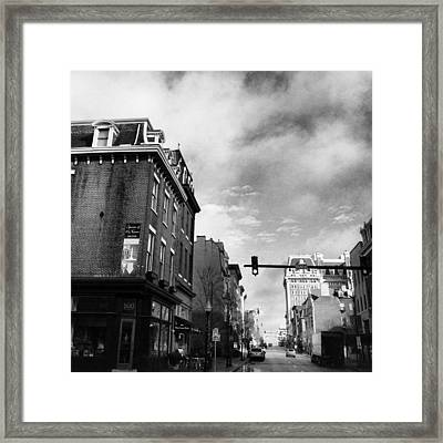 Framed Print featuring the photograph North Charles And Read by Toni Martsoukos