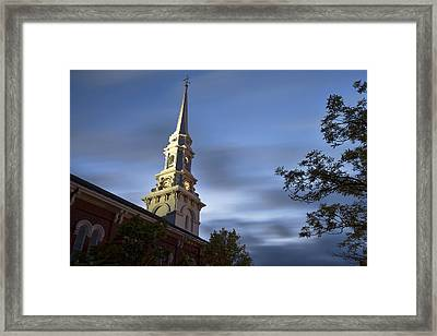 North Church Evening Framed Print by Eric Gendron