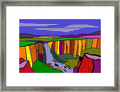 North Clear Creek Falls Framed Print by Randall Henrie