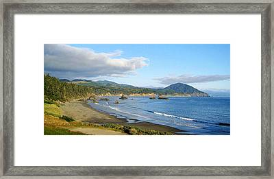 North Coast Framed Print by AJ  Schibig