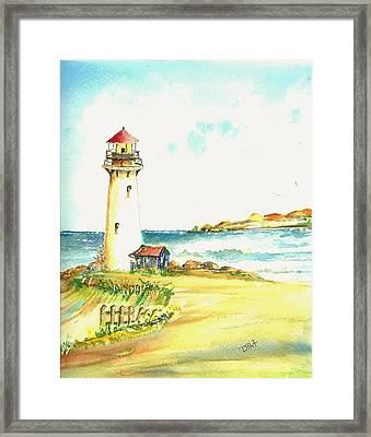 North Coast Light House Framed Print