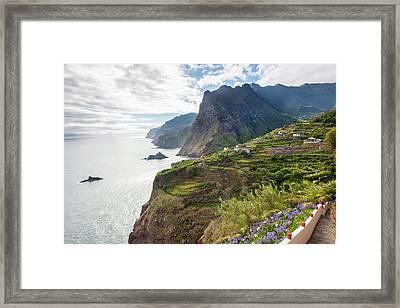 North Coast Near Ponta Delgada Framed Print by Peter Adams