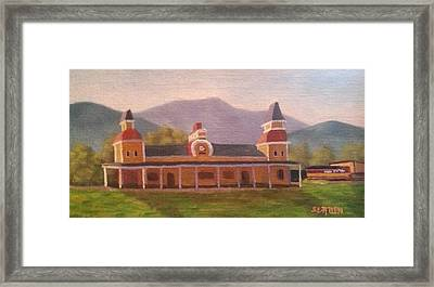 North Conway Depot Framed Print by Sharon E Allen