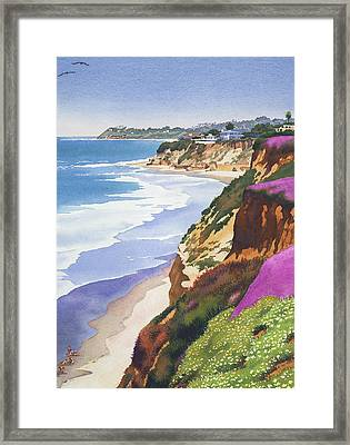 North County Coastline Framed Print by Mary Helmreich