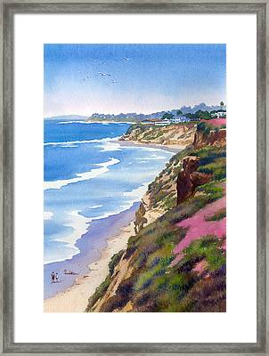 North County Coastline Revisited Framed Print by Mary Helmreich
