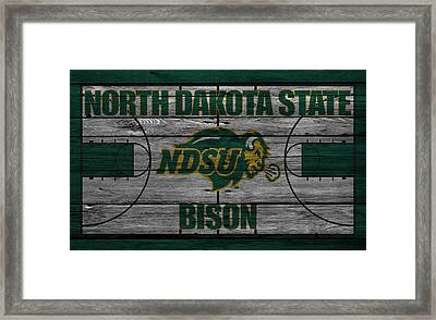 North Dakota State Bison Framed Print by Joe Hamilton