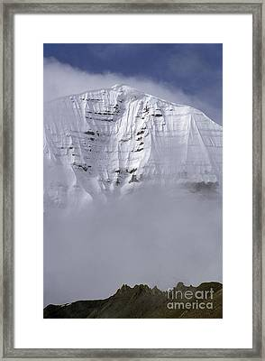 North Face Of Mount Kailash - Tibet Framed Print