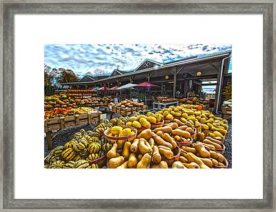 North Fork Farmstand Framed Print by Robert Seifert