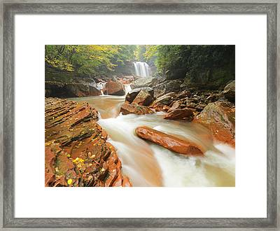 North Fork In Early Fall Framed Print by Martin Radigan