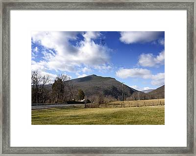 North Fork Mountain - Petersburg Wv Framed Print by Brendan Reals