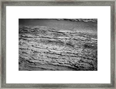 North Fork Of The Flathead River Montana Bw Framed Print by Rich Franco