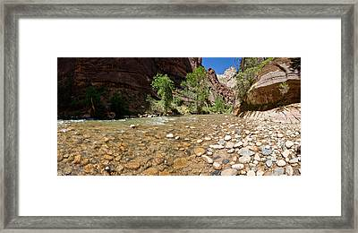 North Fork Of The Virgin River, Zion Framed Print