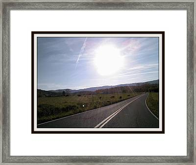 North Fork Road Elliston Framed Print by Angelia Hodges Clay
