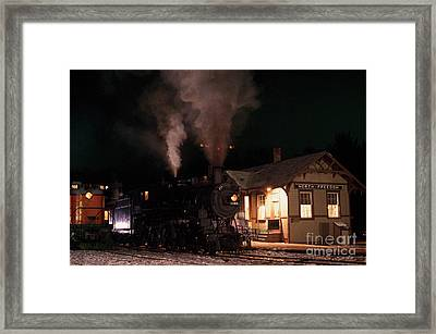 Framed Print featuring the photograph North Freedom Wisconsin Steam Train by Clare VanderVeen