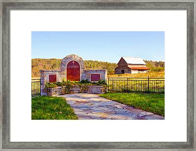 Framed Print featuring the photograph Landscape Barn North Georgia by Vizual Studio