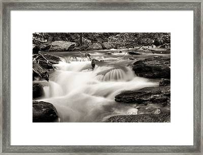 North Georgia Mountains Creek Framed Print