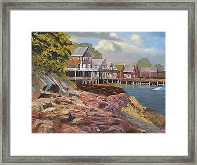 North Haven Harbor Maine Framed Print by Tommy Thompson