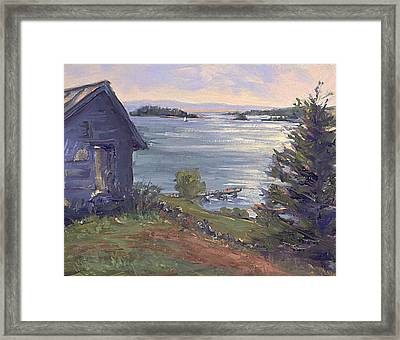 North Haven Island Morning Framed Print