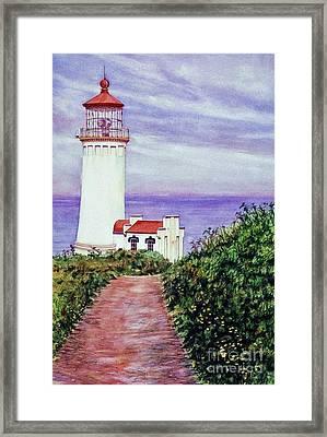 North Head Light House On The Washington Coast Framed Print