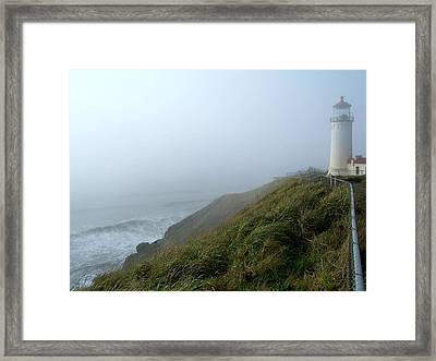 Framed Print featuring the photograph North Head Lighthouse 1 by Peter Mooyman