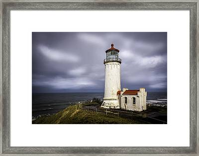 North Head Lighthouse At Sunrise Framed Print