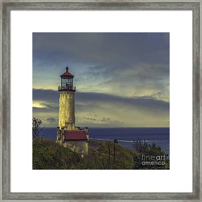North Head Lighthouse Framed Print by Jean OKeeffe Macro Abundance Art