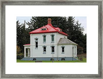 Framed Print featuring the photograph North Head Lighthouse Keepers Quarters by E Faithe Lester