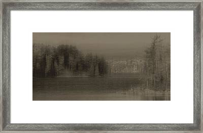 Framed Print featuring the digital art North by Jim Vance