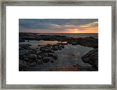 Framed Print featuring the photograph Big Island - North Kona Beach by Francesco Emanuele Carucci