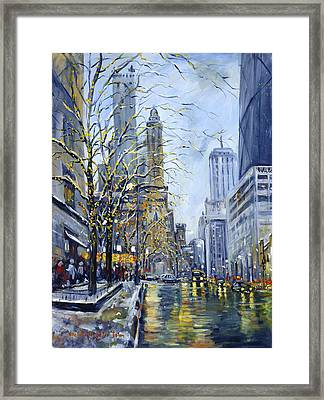 North Michigan Avenue Framed Print