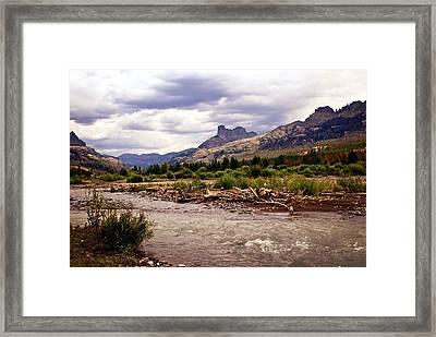 North Of Dubois 3 Framed Print