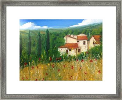 North Of Florence Framed Print