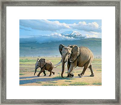 North Of Kilimanjaro  Framed Print