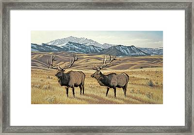 North Of Yellowstone Framed Print