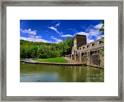 North Park Boathouse In Hdr Framed Print by Amy Cicconi