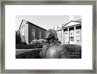 North Park College Nyvall Hall Sculpture Framed Print by University Icons