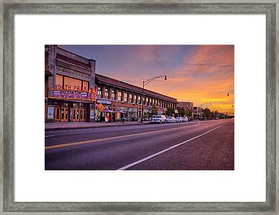 North Park Theatre Framed Print