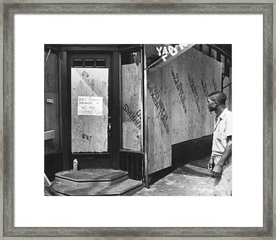 North Philadelphia Race Riots Framed Print by Underwood Archives