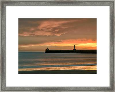 North Pier Dawn Framed Print