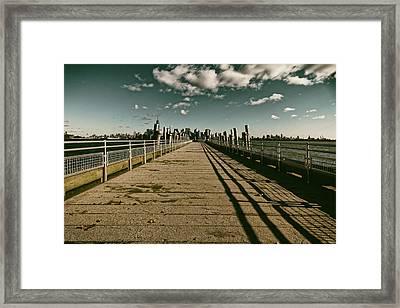 North Pier Liberty Island Framed Print