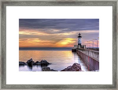 North Pier Morning Framed Print