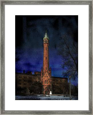North Point Water Tower Framed Print