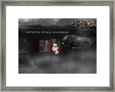 North Pole Express Framed Print by Mike McGlothlen