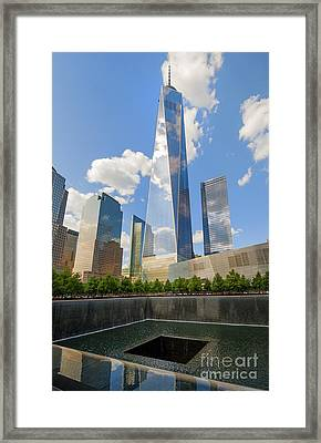 South Pool And Towers Framed Print by Ed Rooney