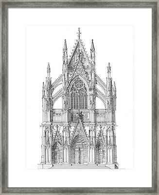 North Portal Cologne Cathedral Germany Framed Print by John Simlett